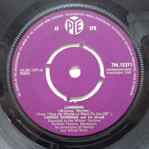 LONNIE DONEGAN & HIS GROUP - Michael, Row The Boat (UK Orig)