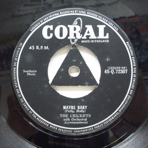 BUDDY HOLLY (CRICKETS) - Maybe Baby (UK Orig.Triangle Center)