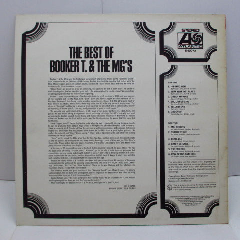 BOOKER T. & THE MG'S - The Best Of (UK 80's RE Stereo/No Barcode)