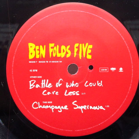 "BEN FOLDS FIVE - Battle Of Who Could Care Less (UK Orig.7"")"