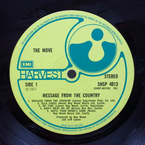 MOVE - Message From The Country (UK Orig.Textured FS)