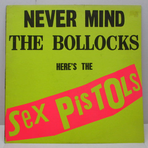 "SEX PISTOLS - Never Mind The Bollocks (UK 3rd Press LP/Vicious Credit On ""EMI"")"
