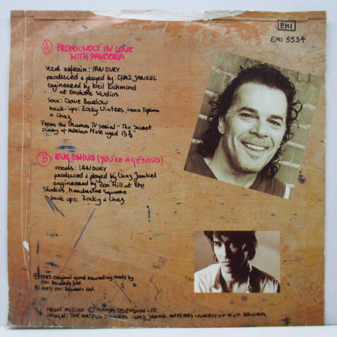 "IAN DURY & THE BLOCKHEADS - Profoundly In Love With Pandora (UK Orig.7""+PS)"
