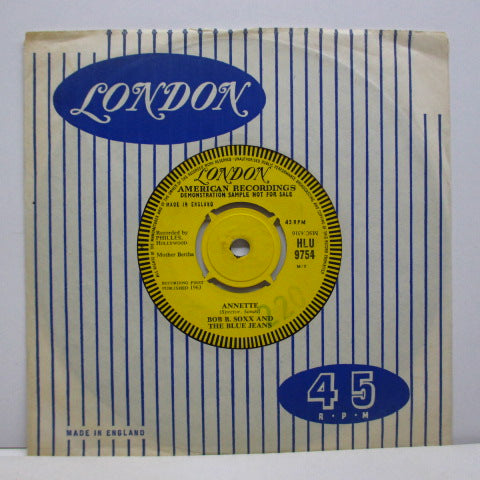 "BOB B.SOXX & BLUE JEANS - Not Too Young To Get Married (UK Promo 7""+CS)"