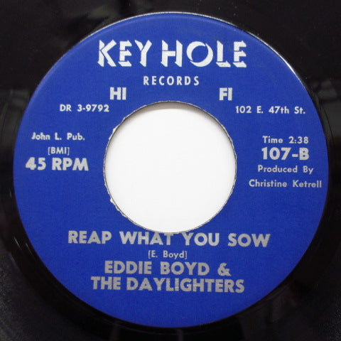 EDDIE BOYD & THE DAYLIGHTERS - Come On Home (Orig./Key Hole-107)