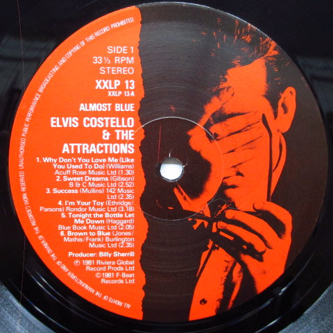 ELVIS COSTELLO And The Attractions - Almost Blue (UK Orig.LP/Pink CVR)