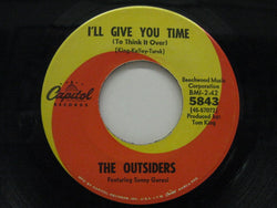 "OUTSIDERS (US)  - I'll Give You Time (US Orig.7"")"