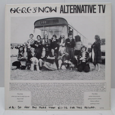 ALTERNATIVE TV - Here And Now – What You See... Is What You Are (UK Orig.LP)
