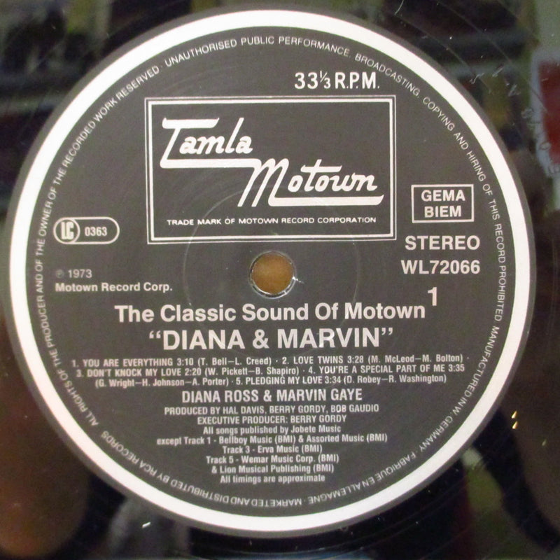DIANA & MARVIN (ダイアナ・ロス & マーヴィン・ゲイ)  - Diana & Marvin (German 80's Re LP/Barcode Single CVR)