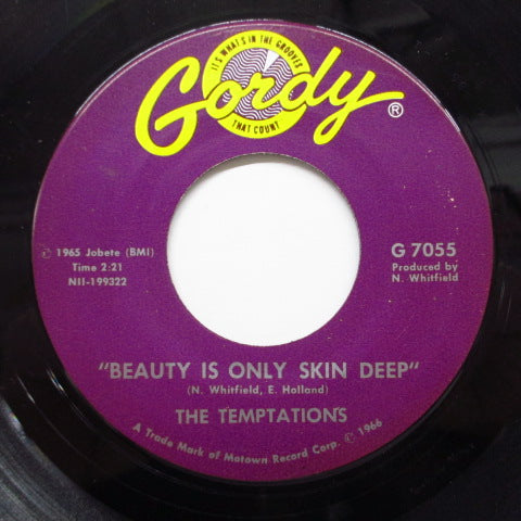 TEMPTATIONS - Beauty Is Only Skin Deep (US Orig)
