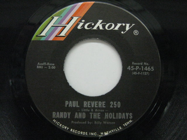 RANDY & THE HOLIDAYS - Paul Revere 250 / Living Doll