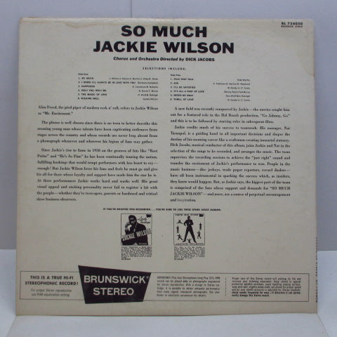 JACKIE WILSON - So Much (US Orig.Stereo LP)