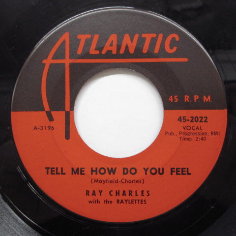 RAY CHARLES - Tell Me How Do You Feel (US Orig)