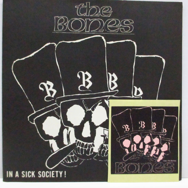 "BONES, THE - In A Sick Society! (Japan Orig.7""+Sticker)"