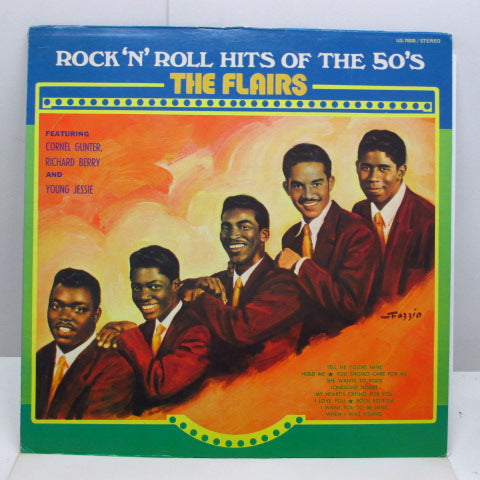 FLAIRS - Rock'n'Roll Hits Of The 50's (70's Re Stereo LP)