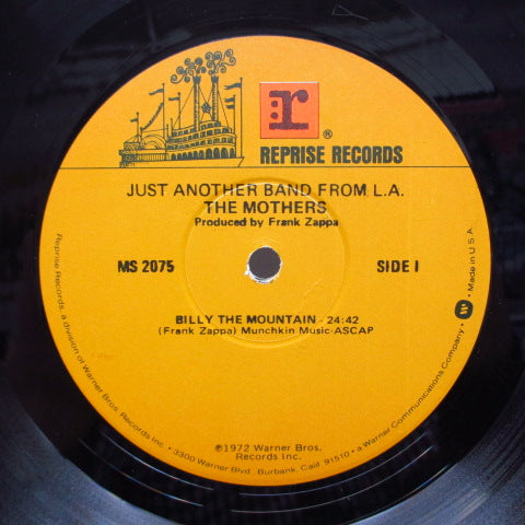FRANK ZAPPA (MOTHERS OF INVENTION) - Just Another Band From L.A. (US 2nd Press LP/W Logo)