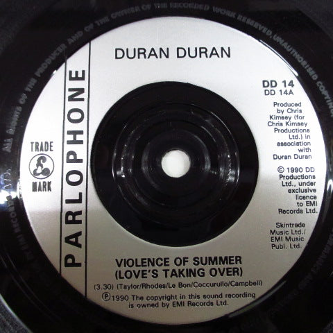 "DURAN DURAN - Violence Of Summer - Love's Taking Over (UK Orig.7"")"