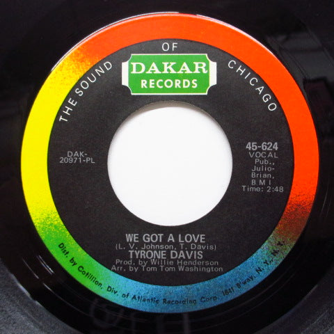 TYRONE DAVIS - One-Way Ticket (Orig)