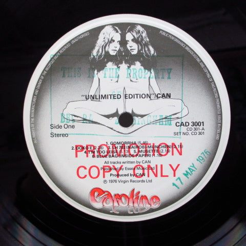CAN - Unlimited Edition (UK Promo Label 2xLP/Sticker CVR)