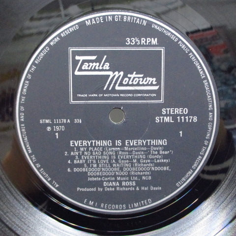 DIANA ROSS-Everything Is Everything (UK Orig/CFS)