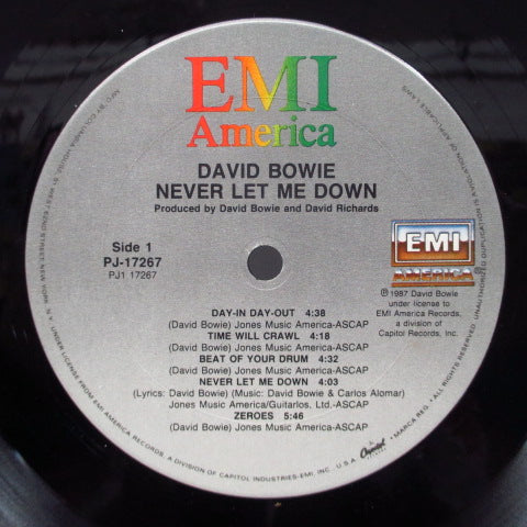 DAVID BOWIE - Never Let Me Down (US Columbia House Issue LP)