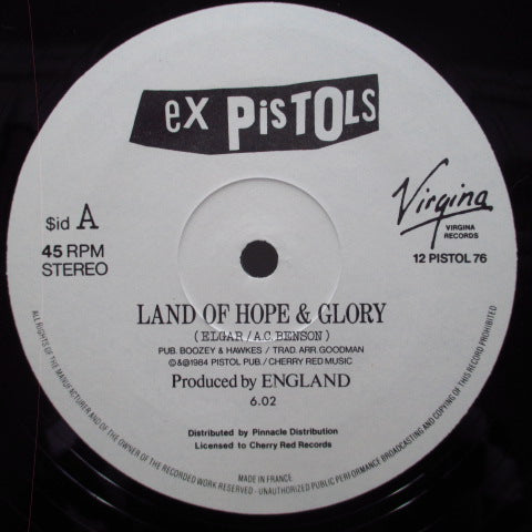 "EX PISTOLS, THE - Land Of Hope & Glory (UK Orig.12"")"