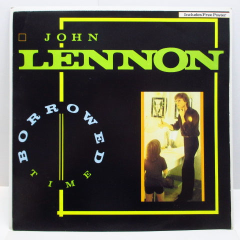 "JOHN LENNON - Borrowed Time (UK Orig.12""+Poster)"