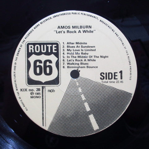 AMOS MILBURN - Let's Rock A While (Sweden Orig.)