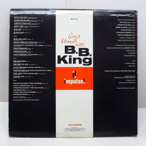 B.B.KING - Great Moments With B.B. King (US Orig.2xLP)