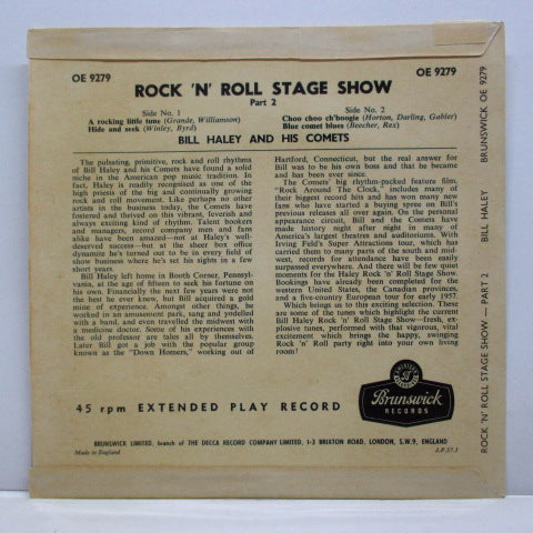 BILL HALEY & HIS COMETS - Rock 'n Roll Stage Show Part 2 (UK Orig.EP/CFS)