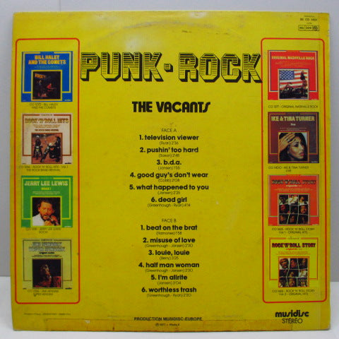 VACANTS, THE - Punk Rock (France Reissue LP/CS)