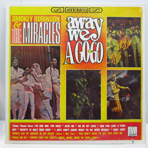 MIRACLES (SMOKEY ROBINSON & THE) - Away We A Go-Go (US 80's Re Stereo LP/No Barcode)