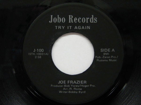 JOE FRAZIER - Try It Again / Knock On Wood (Orig)