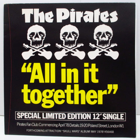 "PIRATES - All In It Together (UK Orig.12""+PS)"