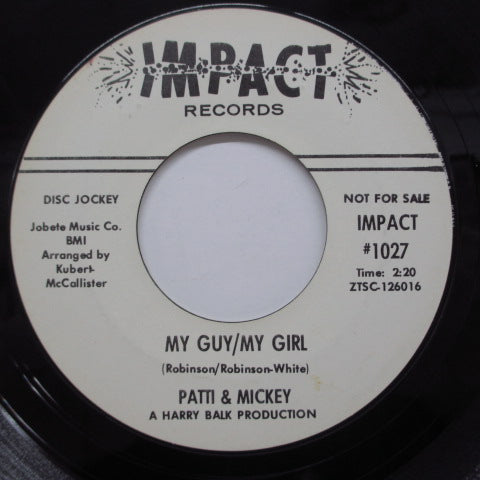 PATTI & MICKEY - My Guy/My Girl (Promo)