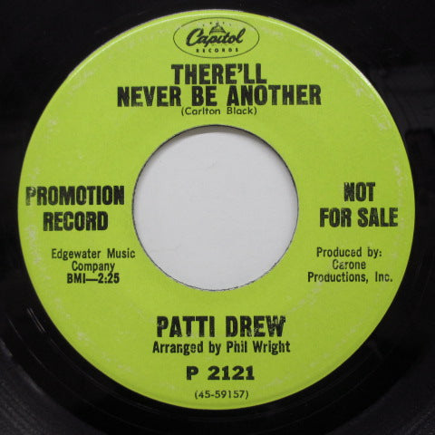 PATTI DREW - There'll Never Be Another (Promo)