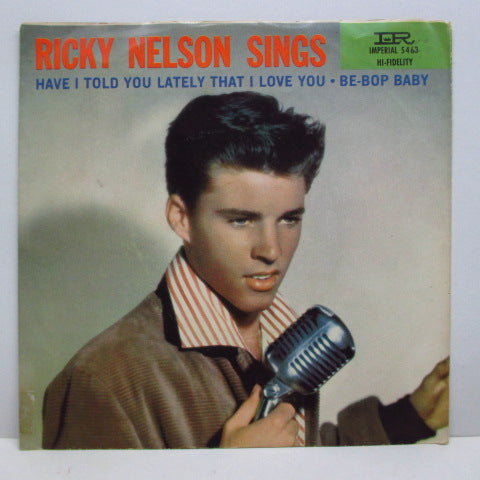 "RICKY NELSON (RICK NELSON) - Be-Bop Baby (US Orig.Black Lbl.7""+PS)"