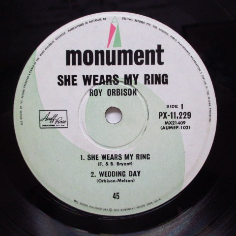 ROY ORBISON - She Wears My Ring +3 (OZ Orig.EP/CFS)