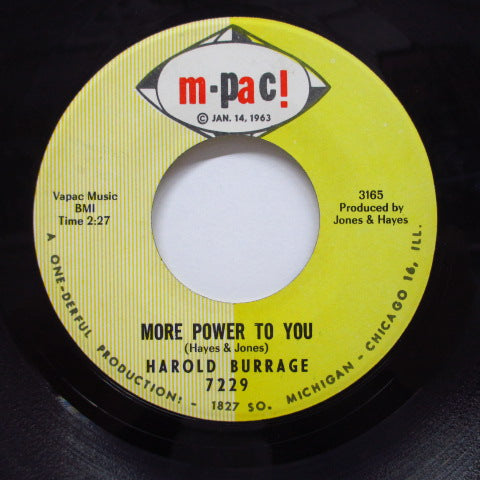HAROLD BURRAGE - More Power To You