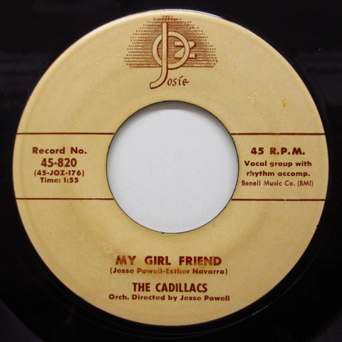 CADILLACS - My Girl Friend (Orig.JOZ Logo)