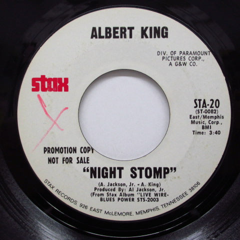 ALBERT KING - Night Stomp / Blues Power (Promo)