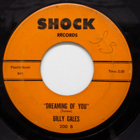 BILLY GALES - I'm Hurting / Dreaming Of You