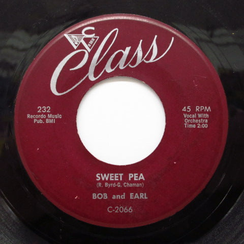 BOB & EARL - Sweet Pea / Chains Of Love (Orig.)