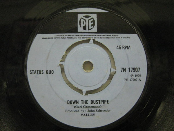STATUS QUO - Down The Dustpipe / Face Without A Soul