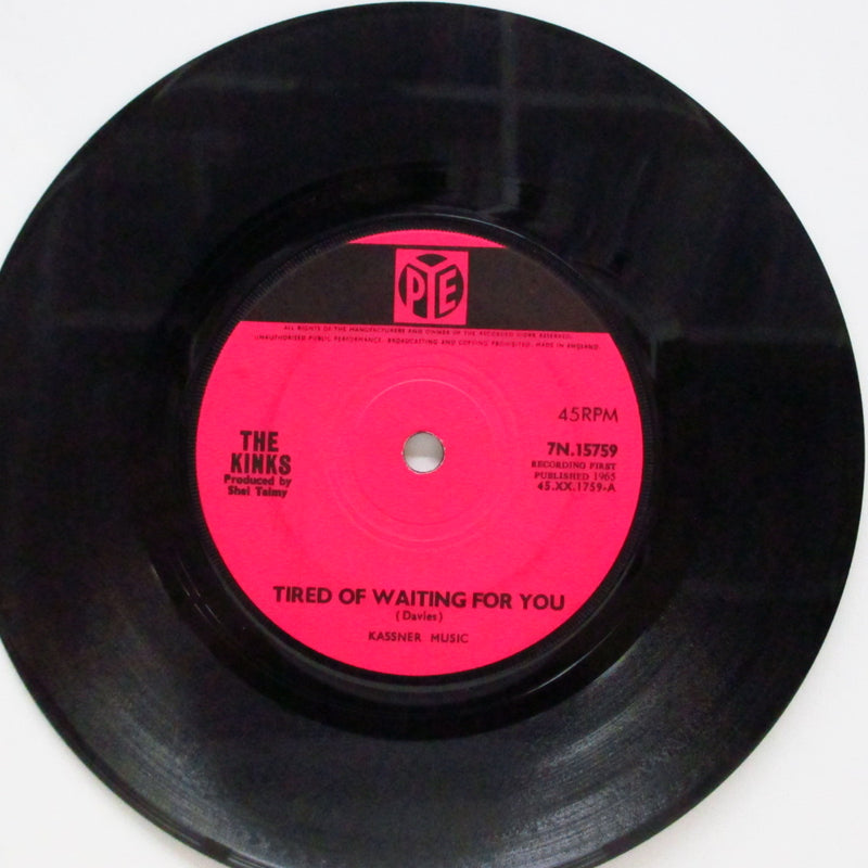 "KINKS (キンクス)  - Tired Of Waiting For You (UK Orig.Flat Center 7"")"