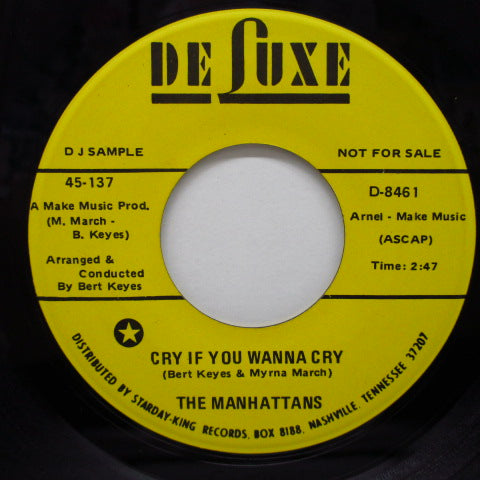 MANHATTANS - Cry If You Wanna Cry (Promo)