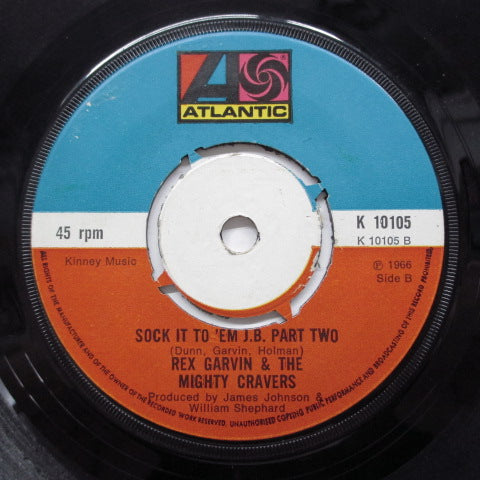 REX GARVIN (& THE MIGHTY CRAVERS) - Sock It To 'Em J.B. (Part.1&2) (UK 70's Reissue)