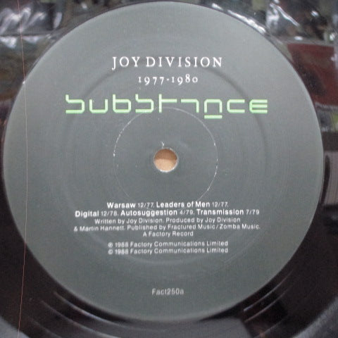 JOY DIVISION-Substance 1977-1980 (UK Orig.LP)