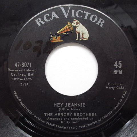 MERCEY BROTHERS - Hey Jeannie (US Orig)