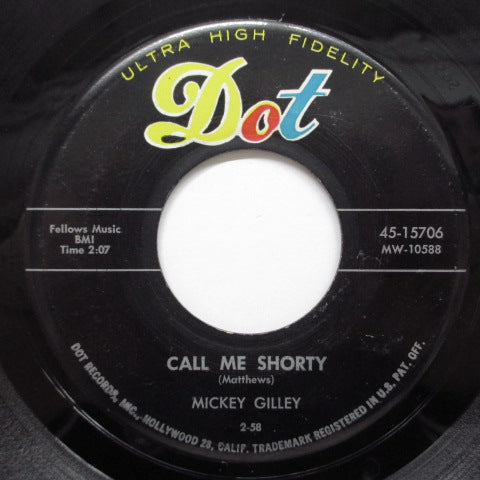 MICKEY GILLEY - Call Me Shorty (Orig)